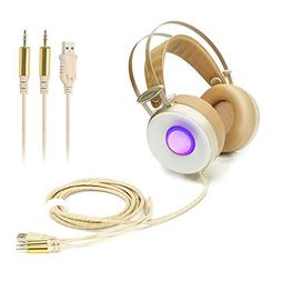 HUAXING V2 Wired On-Ear Analog Jack Port Gaming Headset with