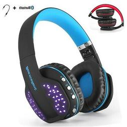Wireless Blue Gaming Headset For PS4 Xbox One PC With Mic LE