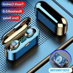 Wireless Bluetooth 5.0 Headphones Earphones Earbuds In-Ear P