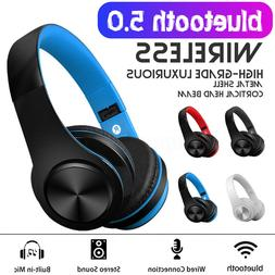 Wireless bluetooth 5.0 Headphones Foldable Earphones Super B