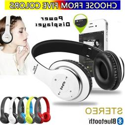 Wireless Bluetooth 5.0 Headphones Noise Cancelling Over-Ear