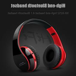Wireless Bluetooth Earphone Bass Headset Over the Ear Foldab