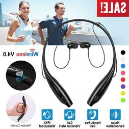 Wireless Bluetooth Headset Sport Stereo Headphone Earbud For