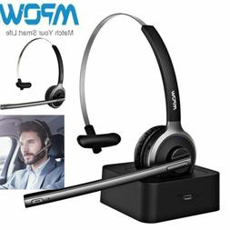 Mpow Wireless Bluetooth Headset Stereo Call Centre Office He