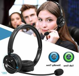 LUXMO Wireless Bluetooth Headset with Mic for Office Call Ce