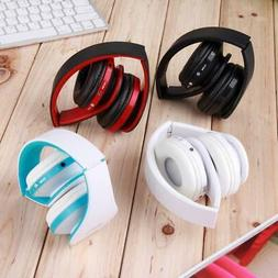 Wireless Stereo Headsets Foldable Headphones Mic for Huawei