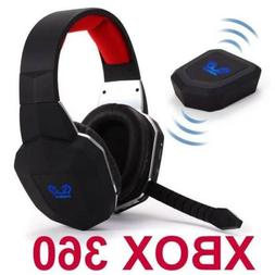 Wireless Gaming Stereo Headset for XBox 360 Game Sound Chat