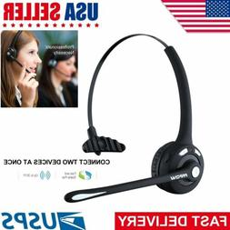 Wireless Handsfree Bluetooth Noise Cancelling Boom Mic Heads