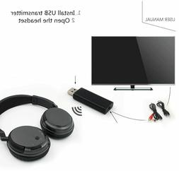 Wireless Headset Function With USB For TV PC Computer MP3 TV