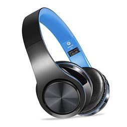 Wireless Headset with Mic, Foldable Bluetooth Headphone with